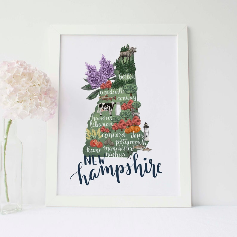 New Hampshire State Map NH Printable Decor Art Print Download on nashua nh map, north portland oregon map, attitash nh map, mount washington nh map, lincoln nh map, littleton nh map, plymouth nh map, jackson nh map, tamworth nh map, keene nh map, presidential range nh map, white mountains nh map, wolfeboro nh map, northwood nh map, portsmouth nh map, baker river nh map, north conway hotels, hampton nh map, north conway new hampshire, nh new hampshire state map,
