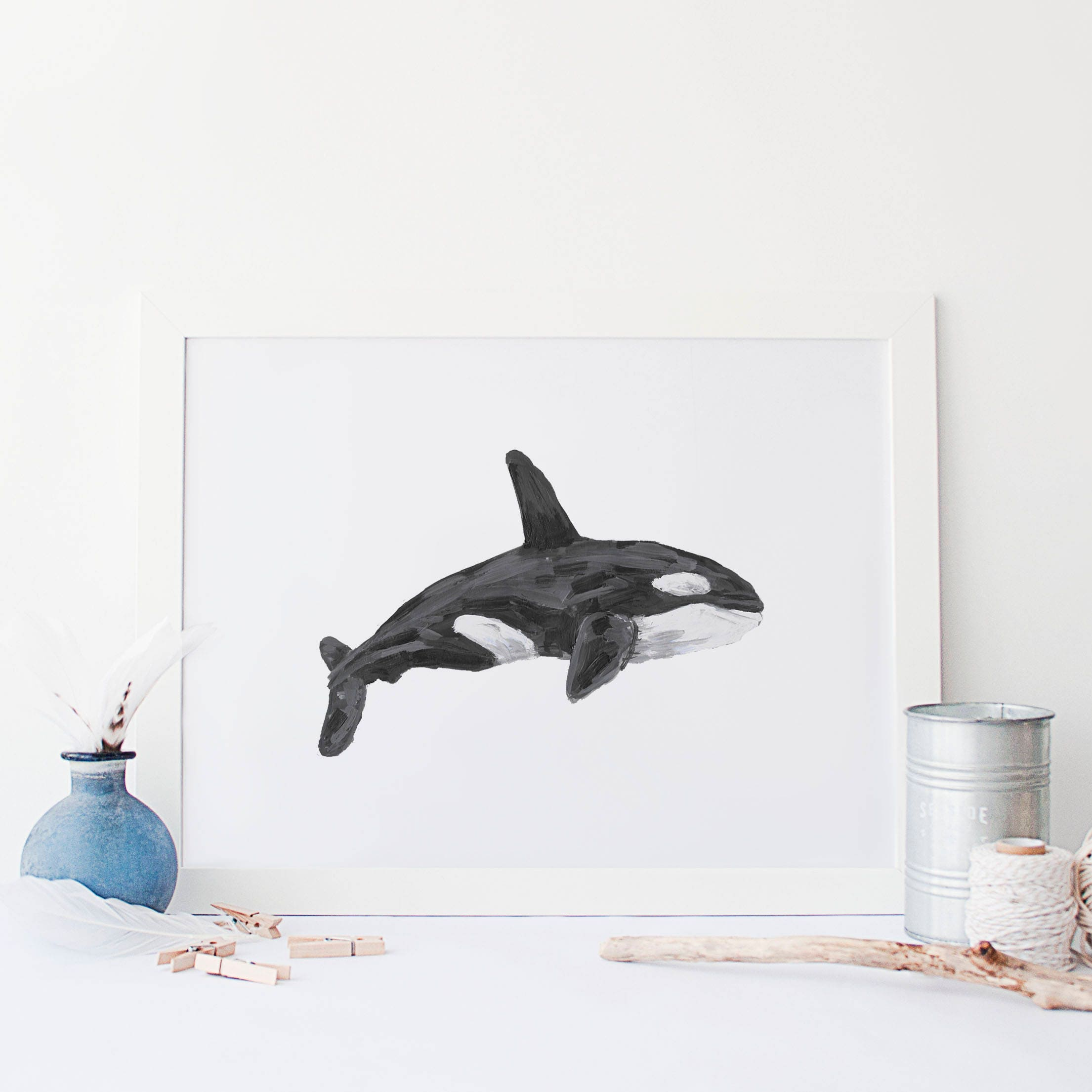 Orca Print Killer Whale Pacific Northwest Art Seattle