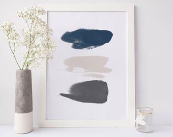 Neutral Wall Art, Modern Prints, Abstract Wall Art, Japanese Brushstroke, Printable Wall Art, Downloadable Art, Zen Art, Minimal Wall Print