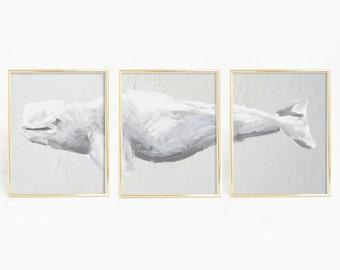Beluga Whale Print, Nautical Printables, Whale Print, Whale Art Print, Beluga Print, Printable Wall Art, Nautical Prints, Beach Art Prints
