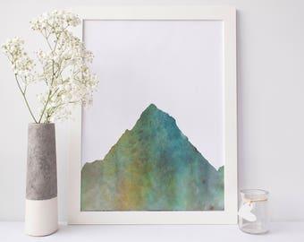 Mountain Print, Nature Decor Wall Art, Mountain Picture Wall Decor, Digital Download, Printable Artwork, Woodland Wall Art, Forest Art Print