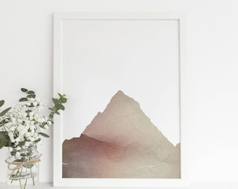 Mountain Wall Print, Modern Print, Scandinavian Artwork, Printable Download Wall Art Large Poster Art Printable, Printable Digital Prints