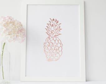 Printable Wall Decor, Rose Gold Decor, Rose Art Print, Nursery Wall Art, Pink Nursery, Baby Girl Print, Girls Room Print, Girly Art Print
