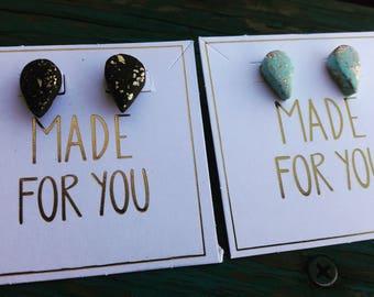 2 pairs Polymer Clay stud Earrings