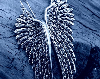 20% any order Sterling silver Angel Wing Earrings