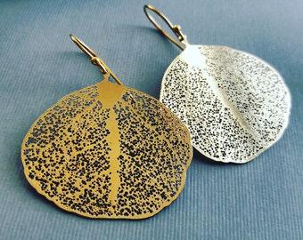Filigree Leaf Earrings-Gift For Her