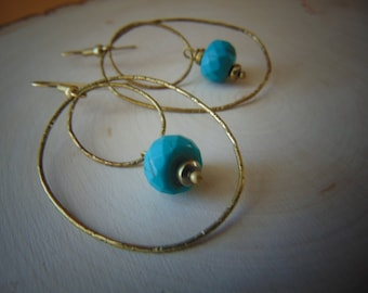 30%Turquoise And brass Earrings