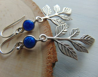 SALE Sterling silver leaf Earrings, FLORAL Earrings, Nature inspired