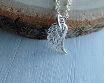 Sterling Silver Wing Necklace