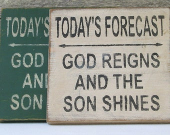 Today's Forecast Wooden Sign