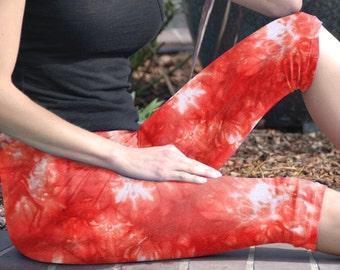 Cosmic Coral Reef Tie Dye Crop Yoga Leggings by Splash Dye Activewear (Choose your own length)