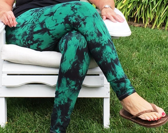 Plus Size Leggings Twilight Collection Hand Dyed by Splash Dye Activewear