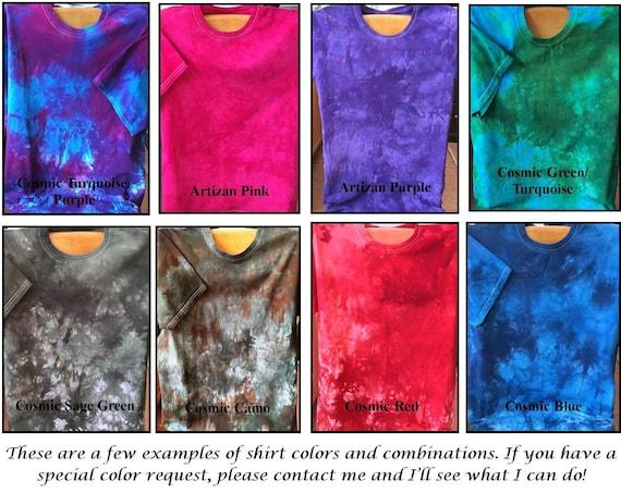 Hand Dyed Custom Color Tee Shirt