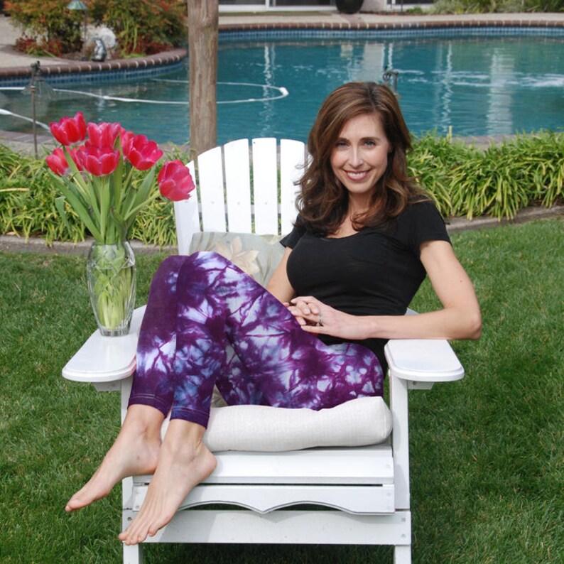 7c07d0ec21b92 Tall 33 Cosmic Rich Purple Tie Dye Yoga Leggings | Etsy