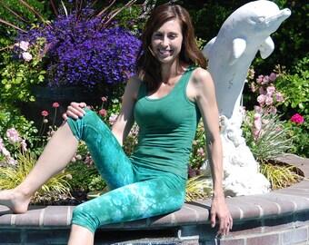 Sea Foam Green Tank Top by Splash Dye Activewear (Matching Top For Sea Foam Pants & Leggings)