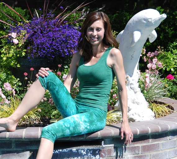 Sea Foam Green Tank Top by Splash Dye Activewear (Matching Top For Sea Foam Pants & Leggings)