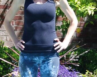 Dark Gray Tank Top by Splash Dye Activewear (Matching Top For Smoke Gray Pants & Leggings)