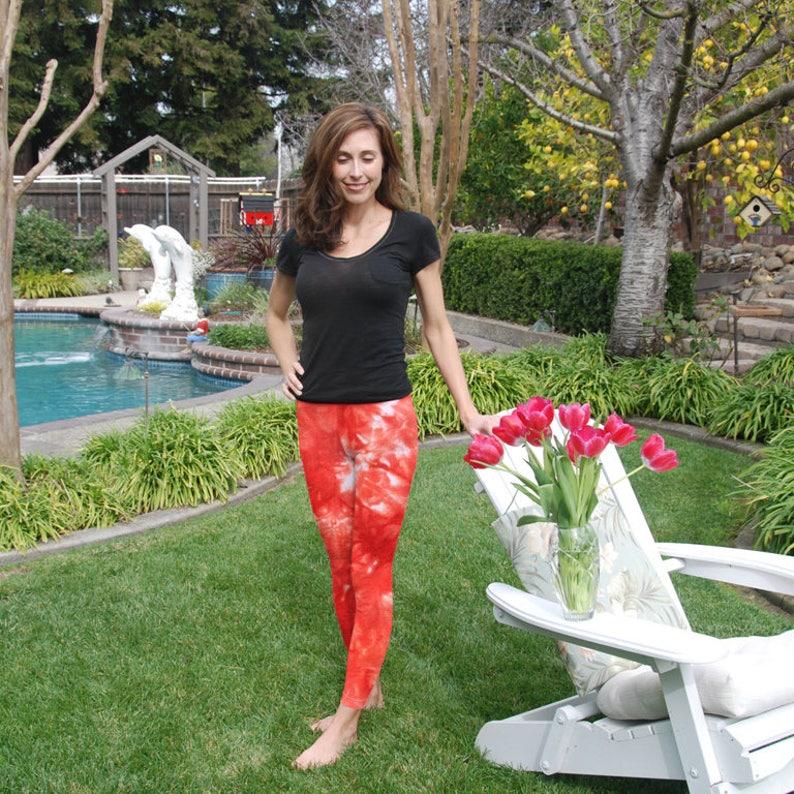 8a00dfdd76 Tall 33 Cosmic Coral Reef Tie Dye Yoga Leggings | Etsy