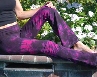"Twilight Pink Tie Dye Yoga Pants 32"" inseam Including Plus Sizes"