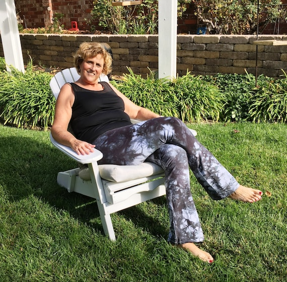 "Tall 34""  Cosmic Smoke Gray Tie Dye Pants Including Extra Long and Plus Sizes by Splash Dye Activewear"