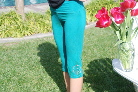 Custom Cropped Hand Dyed Yoga Pants by Splash Dye Activewear in Choice of ArtiZan Colors and Plus Sizes