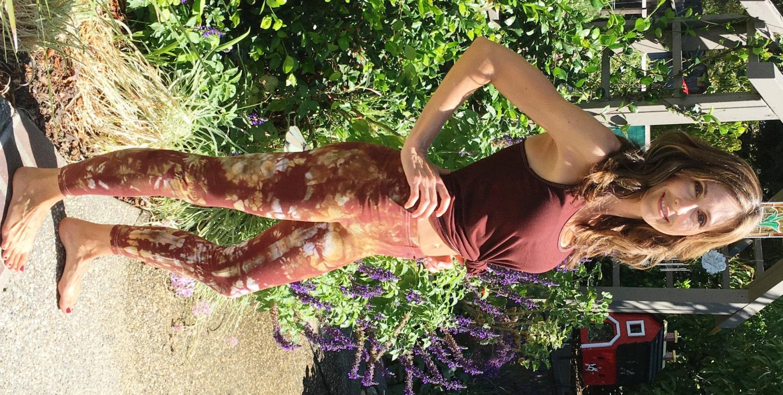 5a5c58ebf0571 Tall 33 Earth Brown Amber Tie Dye Yoga Leggings Including Extra Long ...