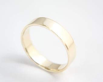Ring in 10k Yellow Gold / Gold Ring / Wedding Ring / polished Ring / Gold Wedding Ring / Yellow Gold band / Gold band / Gold / wedding band