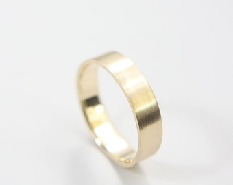 Brushed Ring in 10k Yellow Gold / Gold Ring / Wedding Ring / Brushed Ring / Gold Wedding Ring / Yellow Gold band / Gold band / Gold