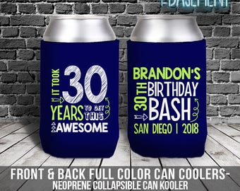Birthday Party Can Coolies Beverage Insulator For 30th Parties 21st 40th MCC 042