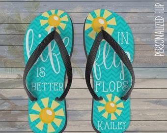 ef099448f3d0ef personalized flip flops - life is better in flip flops personalized custom  flip flops
