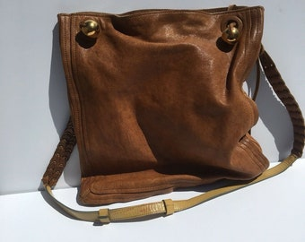 add8a8856b45 Vintage Chloe Leather Paddington Brown Crossbody Bag