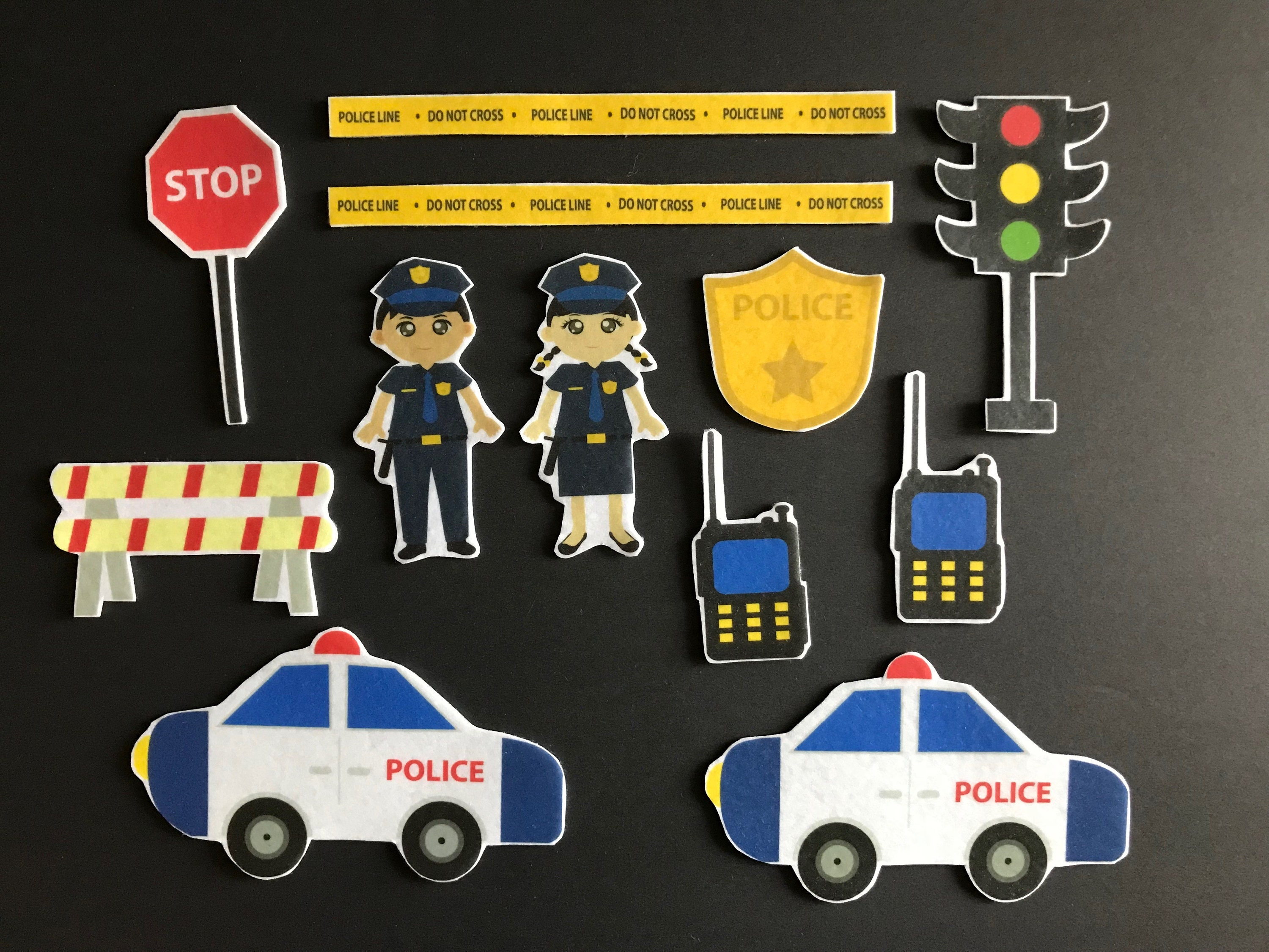 Police Officer Felt Board Set// Flannel Board Story Set // Preschool //  Kids // Community Helper //