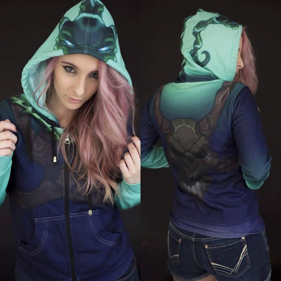 League of Legends Thresh Inspired Hoodie QgqwFzN