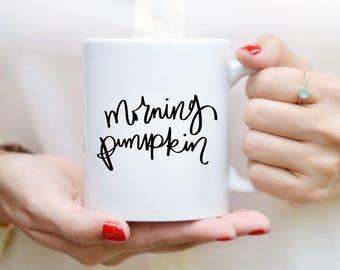 Matin Mug citrouille devis tasse à la main en lettres Mug citation une tasse de café thé tasse Mug motivation Inspirational Gift Decor chute de cuisine