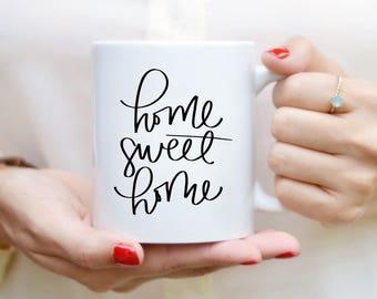 Home Sweet Home Mug devis Mug Home Decor cuisine Decor main lettrage tasse Mug à café citation thé tasse Mug motivation Inspirational Gift