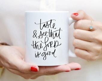 Goût et voir tasse devis tasse à la main alphabétiques tasse une tasse de café citation thé tasse Mug motivation Inspirational Gift de cuisine