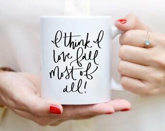 Automne citation Mug devis tasse à la main en lettres tasse Mug à café citation thé Mug cadeau cuisine Decor automne décor automne Mug