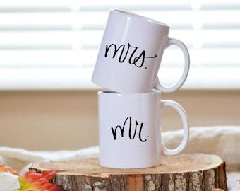 M. Mme tasse ensemble citation tasse à la main en lettres Mug devis café tasse thé tasse mariage cadeau cuisine Decor Home Decor pendaison de crémaillère