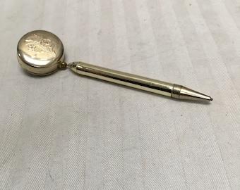 Vintage 1940's retractable brooch pencil