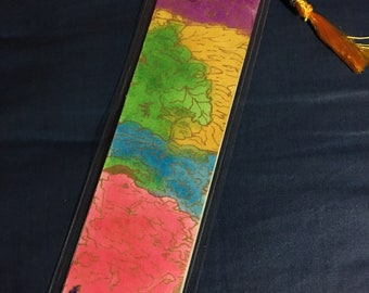 Recovery themed original watercolor bookmark with the Serenity Prayer