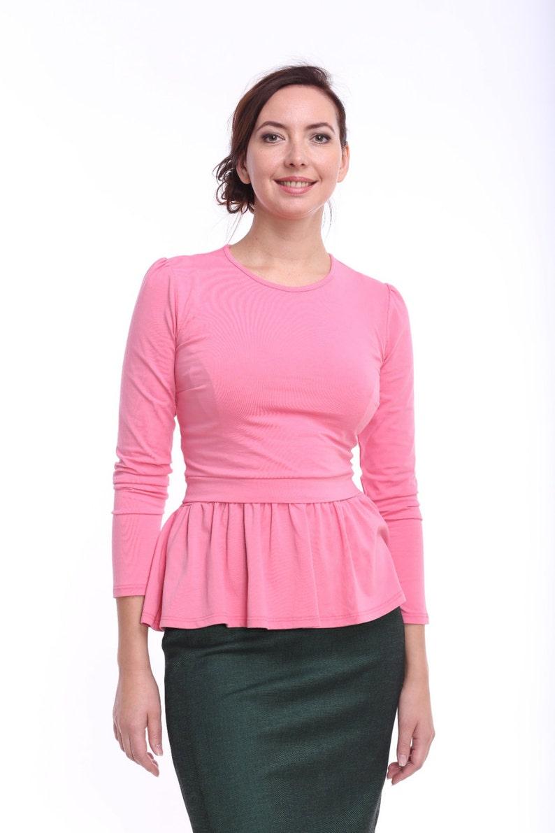 77e67718b9a Peplum Breastfeeding Top Nursing Top Pink Nursing Clothes