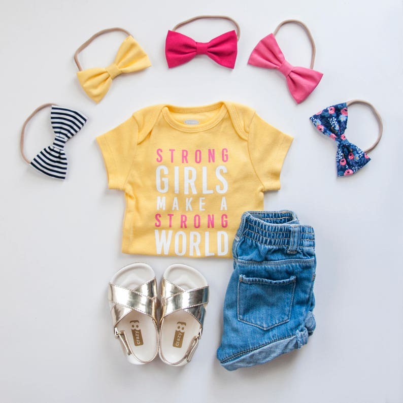 Fabric Bows Baby Girl Headband Toddler Hair Clip Floral Tuxedo Bow Nylon Elastic Headband Alligator Clip NAVY POSY Newborn Baby Bow