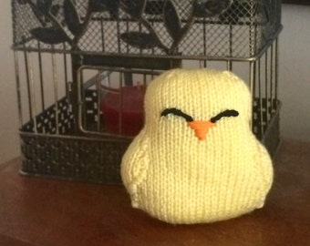 Knit Stuffed Animal - Baby Chick