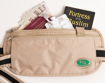 Hajj Safe Anti-Theft Waist Bag And Ihram Belt - Large 3d624f81769ea