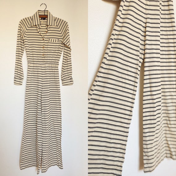 1970s Youth Guild by Liz Claiborne Striped Wide Le