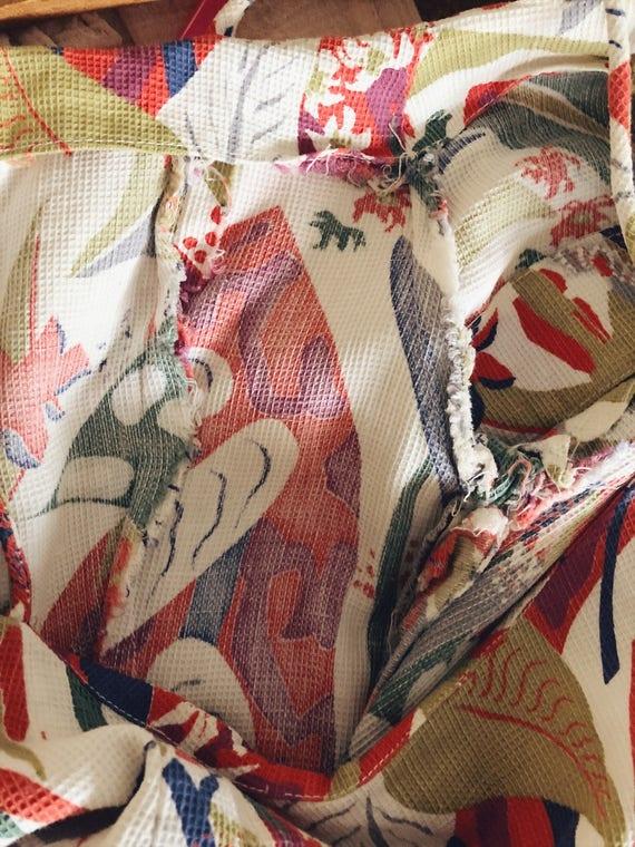 1930s Rare Vintage Cotton Barkcloth Handmade Dress - image 10