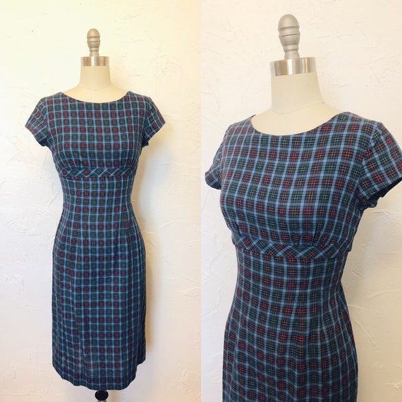 1950s Handmade Vintage Hourglass Party Dress