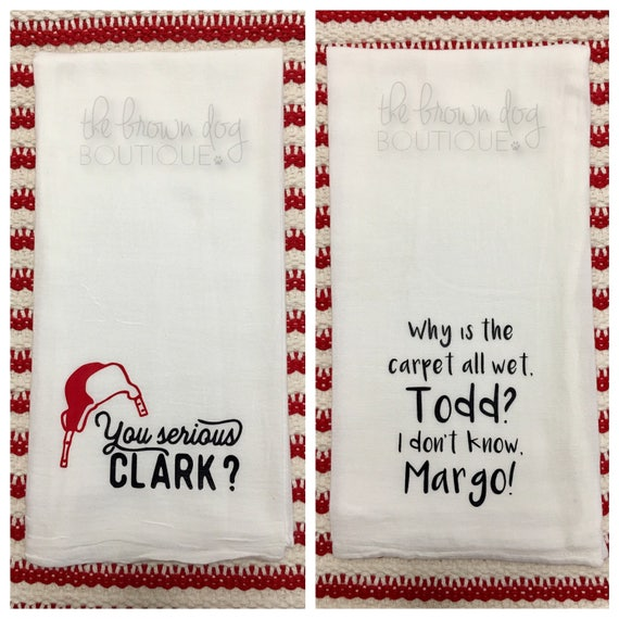 Christmas Movie Kitchen Towels Funny Christmas Kitchen Etsy
