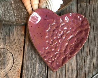 Small Ceramic Heart Ring Dish | Stoneware Tea Bag Holder | Lace Textured Pottery Spoon rest | Ceramic Trinket Dish | Shower Favors
