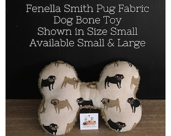 Fenella Smith Pug Fabric Toy Bone